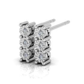 Why Jewellery Trilogy Diamond Chandelier Earrings - Silver