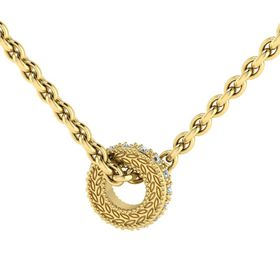 Why Jewellery Circle of Life Diamond Pendant and Chain - Yellow Gold Plated