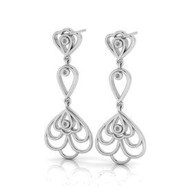 Why Jewellery Floral Diamond Chandelier Earrings - Silver