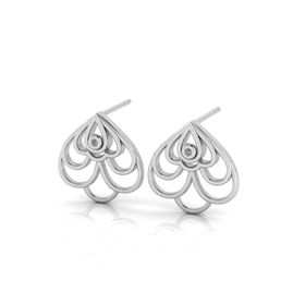 Why Jewellery Floral Diamond Stud Earrings - Silver