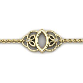 Why Jewellery Teardrop Floral Diamond Bracelet - Yellow Gold Plated