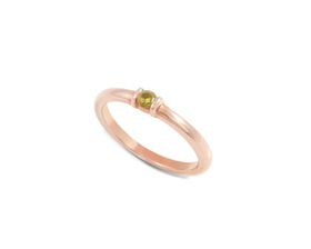 Why Jewellery Citrine Ring - Rose Gold Plated