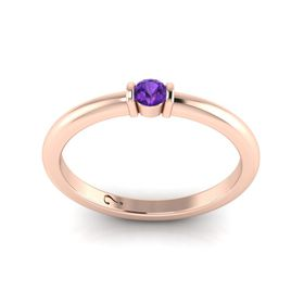 Why Jewellery Amethyst Ring - Rose Gold Plated