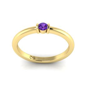 Why Jewellery Amethyst Ring - Yellow Gold Plated