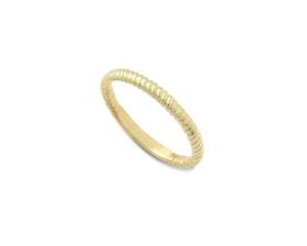 Why Jewellery Twist Eternity Ring - Yellow Gold Plated