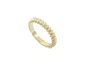 Why Jewellery Oval Eternity Ring - Yellow Gold Plated