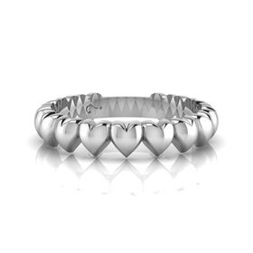 Why Jewellery Heart Eternity Ring - Silver