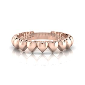 Why Jewellery Heart Eternity Ring - Rose Gold Plated