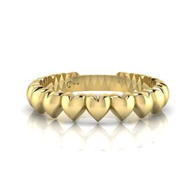 Why Jewellery Heart Eternity Ring - Yellow Gold Plated