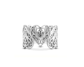 Why Jewellery Filigree Diamond Ring - Silver