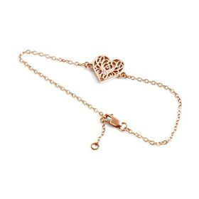 Why Jewellery Filigree Diamond Bracelet - Rose Gold Plated