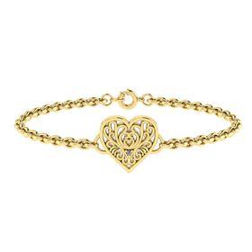 Why Jewellery Filigree Diamond Bracelet - Yellow Gold Plated