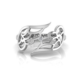 Why Jewellery Wings Diamond Ring - Silver