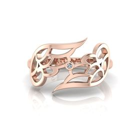 Why Jewellery Wings Diamond Ring - Rose Gold Plated