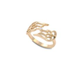 Why Jewellery Wings Diamond Ring - Yellow Gold Plated