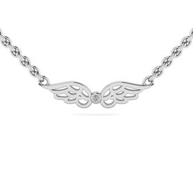 Why Jewellery Wings Diamond Pendant and Chain - Silver