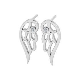 Why Jewellery Wings Diamond Stud Earrings - Silver