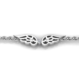 Why Jewellery Wings Diamond Bracelet - Silver