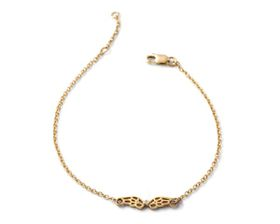 Why Jewellery Wings Diamond Bracelet - Yellow Gold Plated