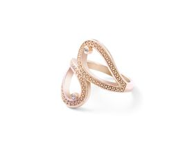 Why Jewellery Teardrop Diamond Ring - Yellow Gold Plated