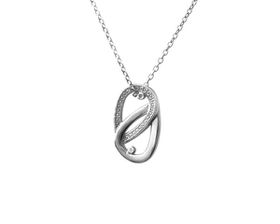 Why Jewellery Teardrop Diamond Pendant and Chain - Silver