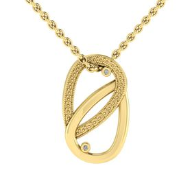Why Jewellery Teardrop Diamond Pendant and Chain - Yellow Gold Plated