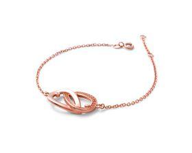 Why Jewellery Teardrop Diamond Bracelet - Rose Gold Plated