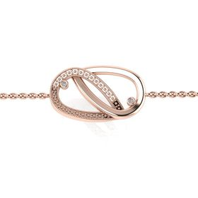 Why Jewellery Teardrop Diamond Bracelet - Rose Gold Plated