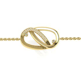 Why Jewellery Teardrop Diamond Bracelet - Yellow Gold Plated