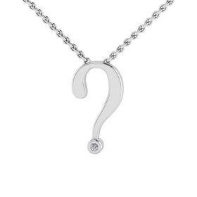 Why Jewellery Question Mark Diamond Pendant and Chain - Silver