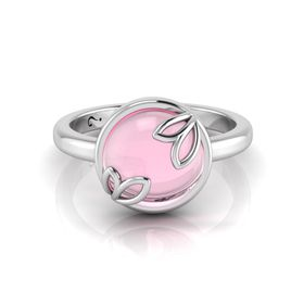 Why Jewellery Rose Quartz Ring - Silver
