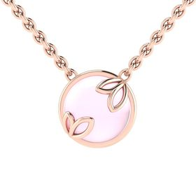 Why Jewellery Rose Quartz Pendant and Chain - Rose Gold Plated