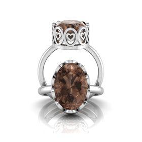 Why Jewellery Smokey Quartz Ring - Silver