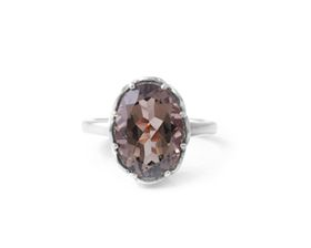 Why Jewellery Smokey Quartz Ring - Silver