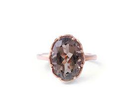 Why Jewellery Smokey Quartz Ring - Rose Gold Plated