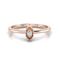 Why Jewellery Diamond Stax Marquise Ring Set - Rose Gold Plated