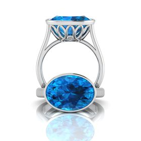 Why Jewellery Topaz Ring - Silver