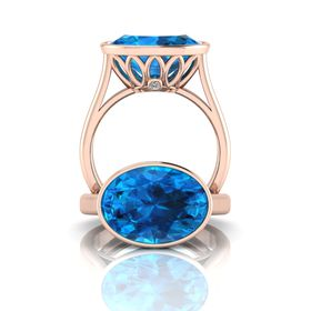 Why Jewellery Topaz Ring - Rose Gold Plated
