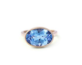 Why Jewellery Topaz Ring - Yellow Gold Plated