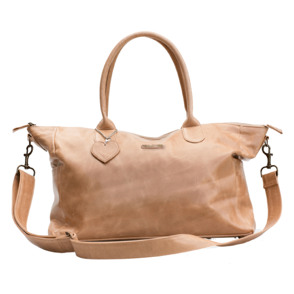 Mally Classic Leather Baby Bag Tan