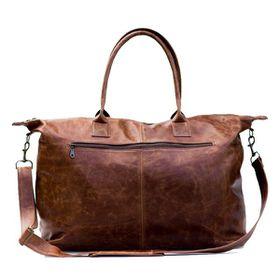 Leather Weekender Bag - Diesel Brown
