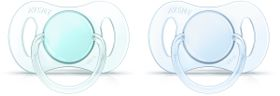 Avent - Mini Soother 0-2 Months - Twin Pack - Boy
