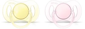 Avent - Mini Soother 0-2 Months - Twin Pack - Girl
