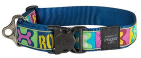 Rogz - Fancy Dress 2 x Extra-Large 4cm Special Agent Dog Collar - Pop Art Design