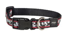Rogz - Fancy Dress Medium 1.6cm Scooter Dog Collar - Houndstooth Design