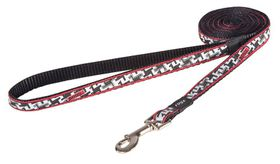 Rogz Fancy Dress Small 11mm Jellybean Fixed Dog Lead - Hound Dog Design