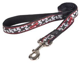 Rogz - Fancy Dress Extra-Large 2.5cm Armed Response Fixed Dog Lead - Hounds tooth Design