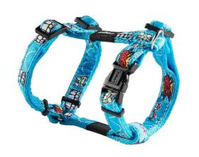 Rogz Fancy Dress Small 11mm Jellybean Dog H-Harness - Comic Design