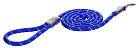 Rogz - Utility Rope 0.9cm Medium 1.8m Long Dog Leash - Blue Reflective