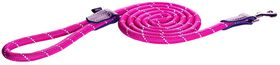 Rogz - Utility Rope 0.9cm Medium 1.8m Long Dog Leash - Pink Reflective